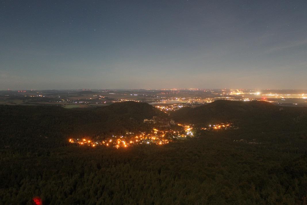 Zittau in der Nacht